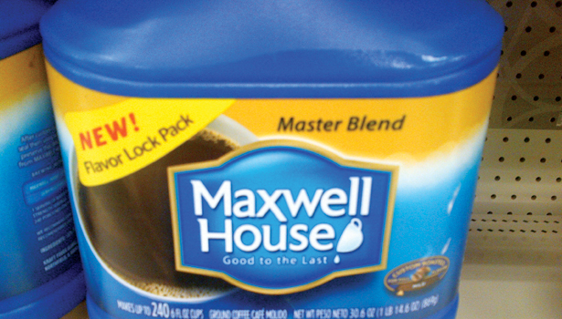 coffee maxwell house highlight features packaging