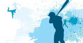 big league packaging baseball graphic blue