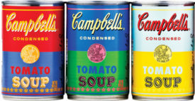 campbell soup can warhol retro color