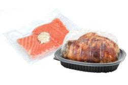 packages salmon, rotisserie chicken