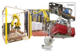 Machinery palletizing