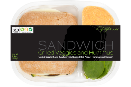Grab and go sandwich packaging