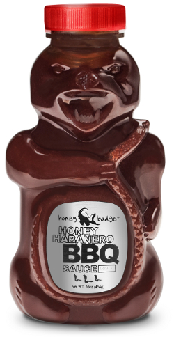 Honey Badger BBQ sauce packaging article
