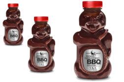 Honey Badger BBQ sauce packaging