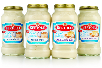 Bertolli Alfredo light redesign 2013