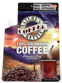 Coffee Package brews coffee in pouch