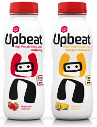 Upbeat drink protected by sleeve