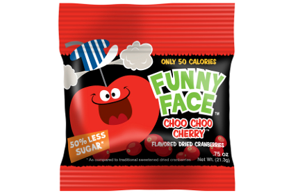 Funny face cranberry packages