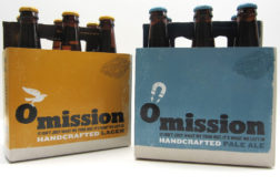 Omission craft beer uses design to show what's in and what out