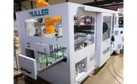 Muller In-Mold Labeling Automation System for 5-Gal Pails