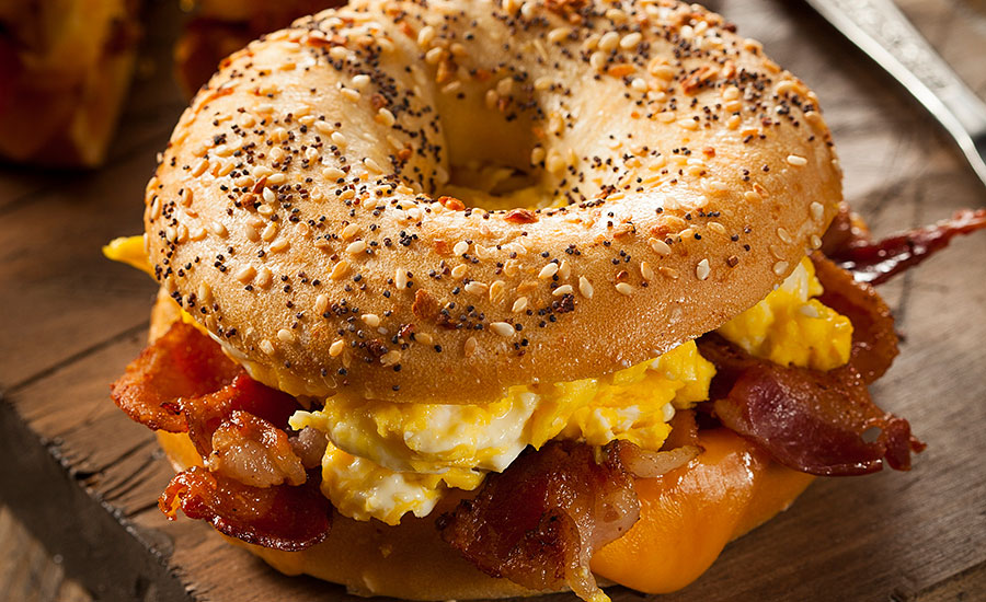 Breakfast sandwich, a wholesome, fulfilling breakfast centered around protein