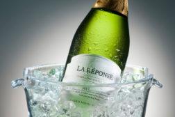 Pressure sensitive label for sparking wine debuts