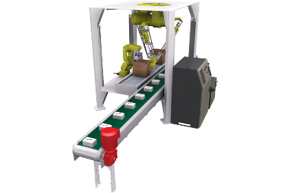 robotic case packer feature