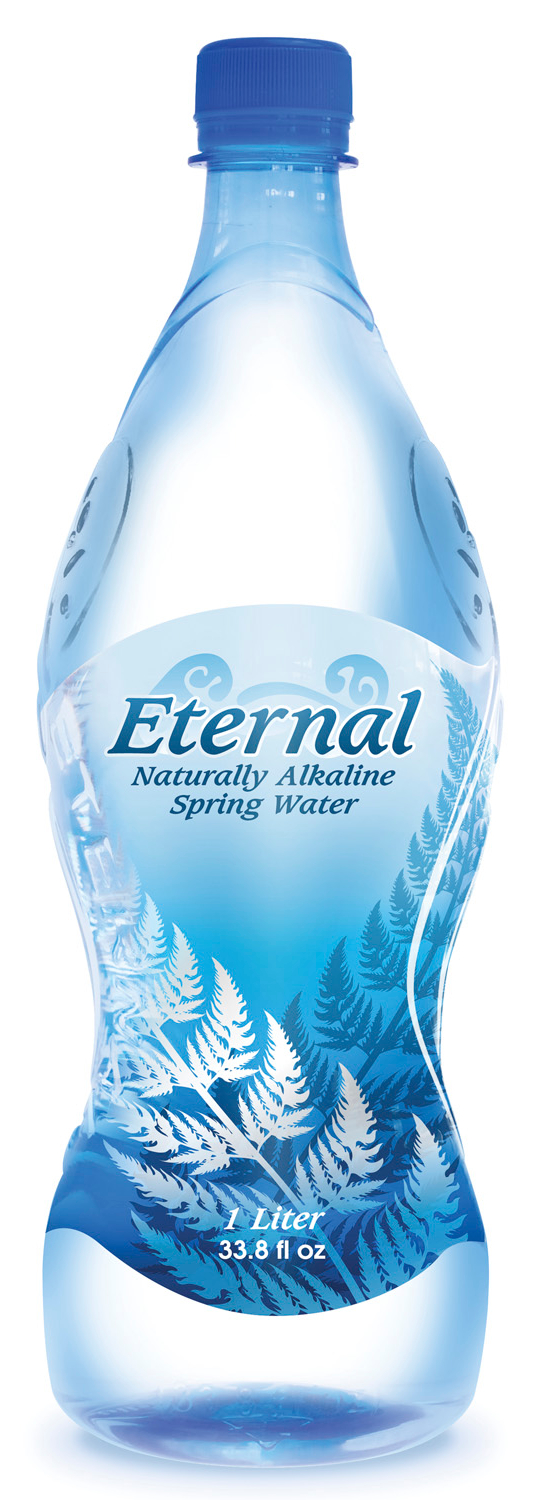 Eternal water switches to pressure sensitive label
