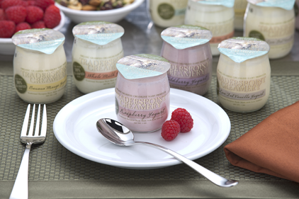 Single-serve yogurt glass jars
