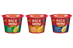 Rice-A-Roni single serve packaging