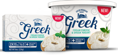 Greek cream cheese debuts at Walmart healthy food packaging
