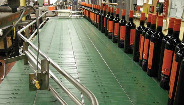 conveyor chain, Vincor, System Plast, dry running bottle-line