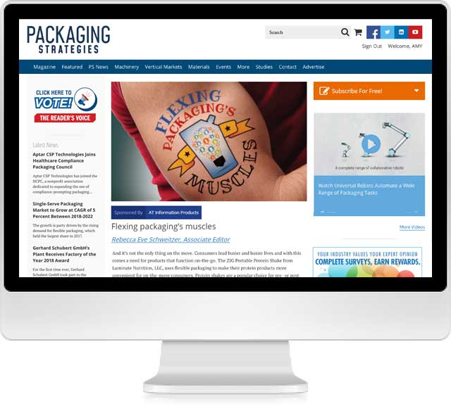 Packaging Strategies Desktop Screenshot