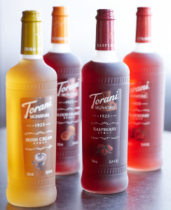 Torani signature syrups glass bottles