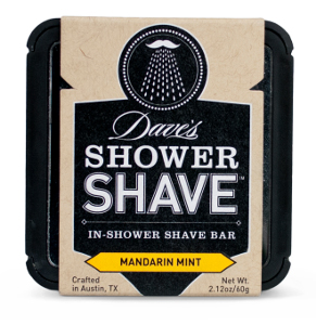 Dave's Shower Shave paperboard packaging