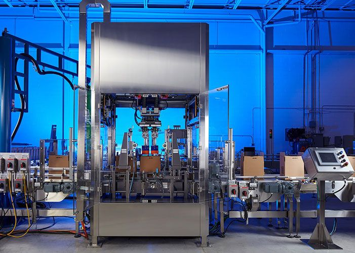 Robotic Pick & Place Case Packing System